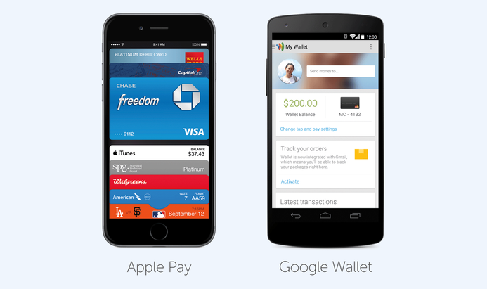 Apple Pay and Google Wallet apps