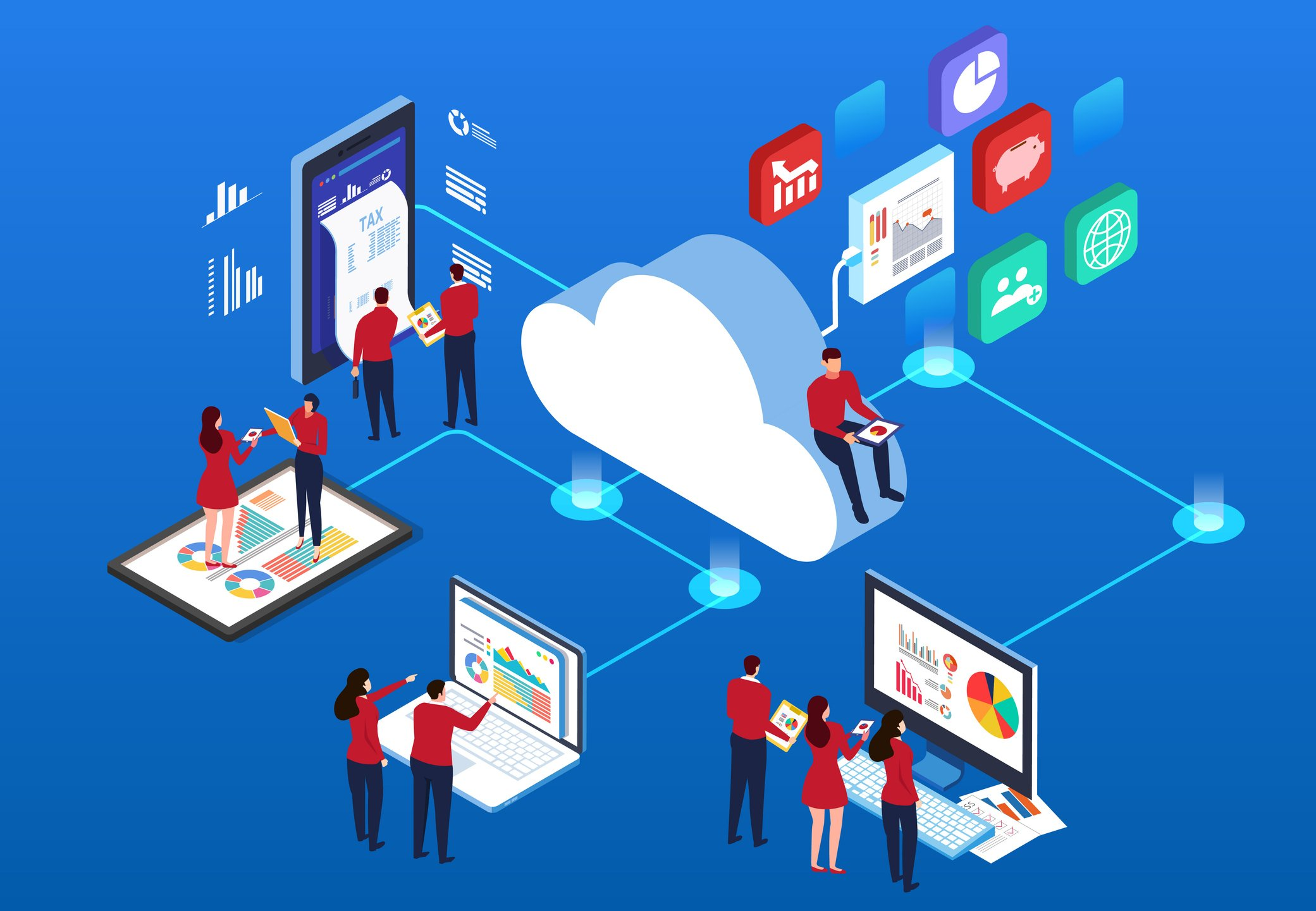 Connections of Cloud-Based ERP