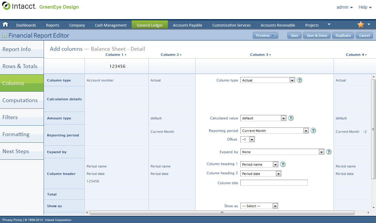 Intacct 2017 Reviews Pricing Screenshots Demo