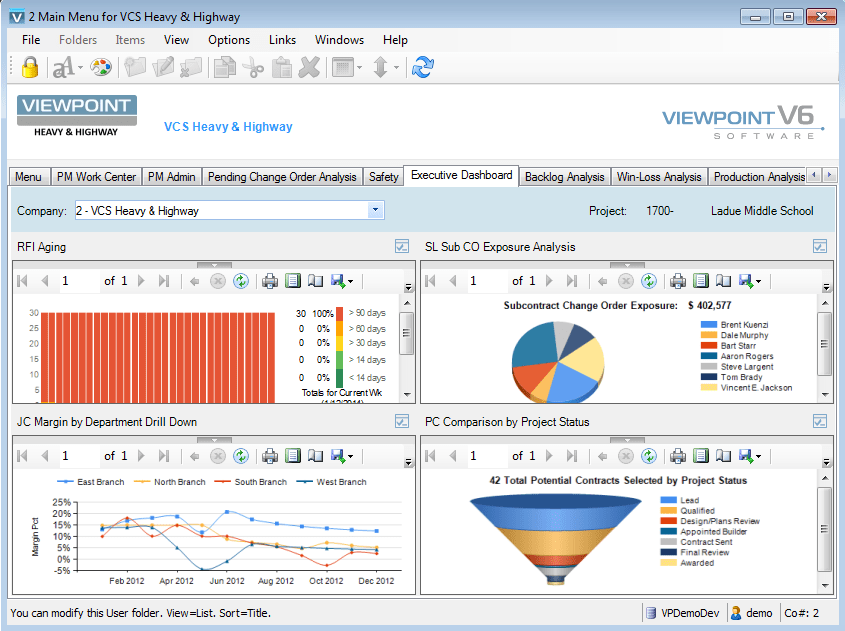 Vista By Viewpoint 2017 Pricing Screenshots Demo