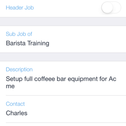 Screenshot: Job