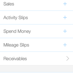 Screenshot: Transactions