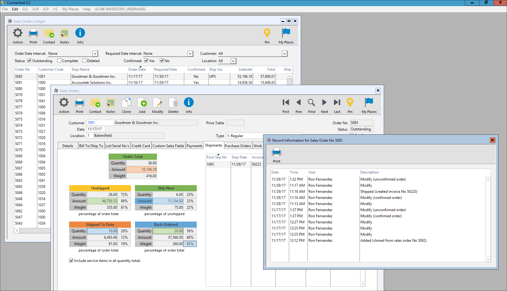 Connected accounting erp software for machine learning