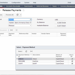 Screenshot: Release Payments
