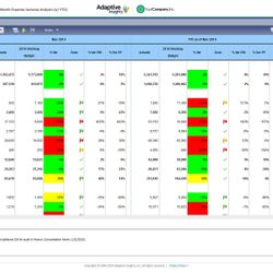 Screenshot: Expense Variance Analysis Report