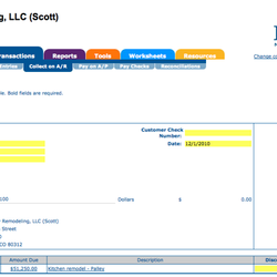 Screenshot: Accounts Receivable Collection