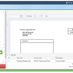 Screenshot: Approving and rejecting invoices