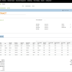 Screenshot: Billing Contract