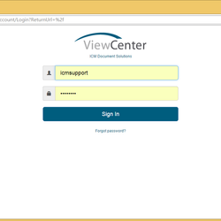 Screenshot: Login