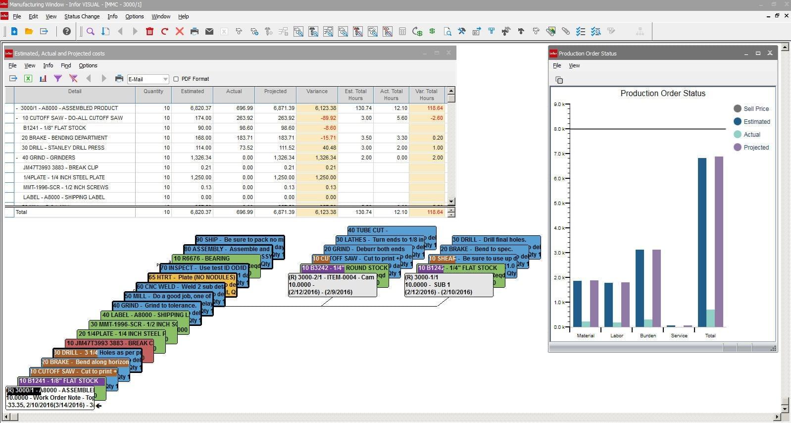 Infor Visual 2018 Pricing Screenshots Demo