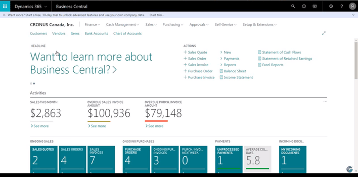 Dynamics 365 Business Central | Accounting Software | 2019