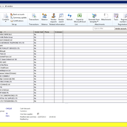 Screenshot: Accounts Payable