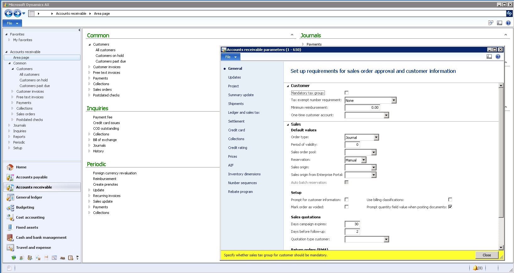 Dynamics Ax 2018 Pricing Screenshots Demo