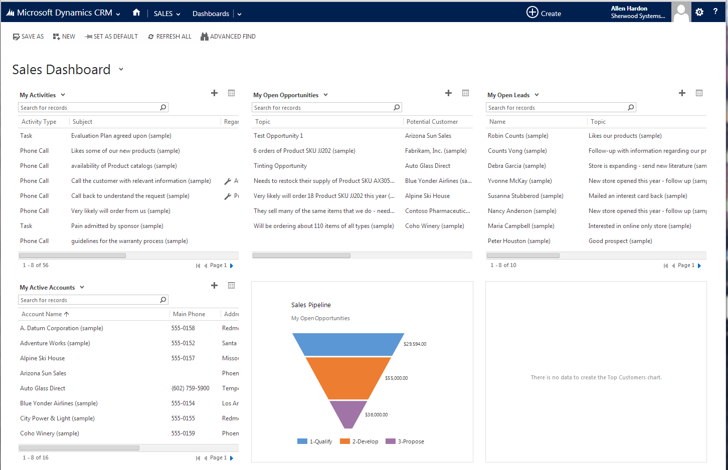 Image result for microsoft dynamics crm screenshots