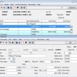 Screenshot: Accounts Receivable Transactions