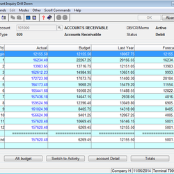 Screenshot: General Ledger