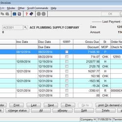 Screenshot: Hold/Release Invoices