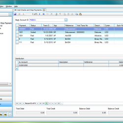 Screenshot: Bank Reconciliation
