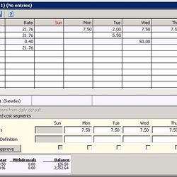 Screenshot: T&A Employee Timesheet