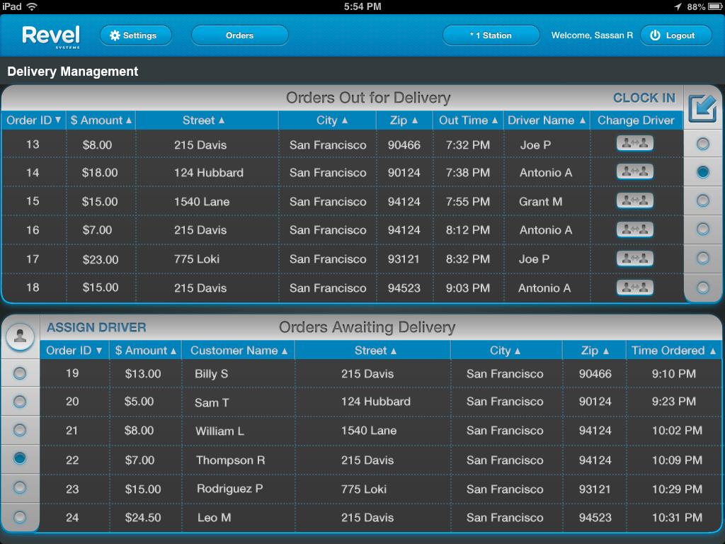 screenshot crm screenshot delivery management