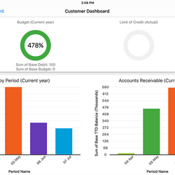 Screenshot: Customer Dashboard