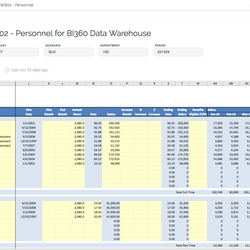 Screenshot: Payroll Budgeting