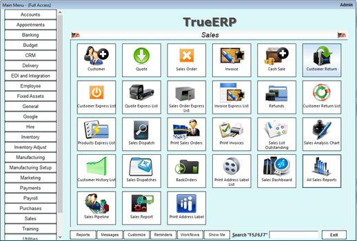 True ERP   2019 Software Reviews, Pricing, Demos