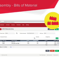 Screenshot: Assembly - Bills of Material