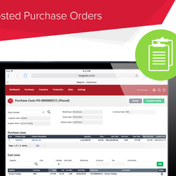 Screenshot: Costed Purchase Orders