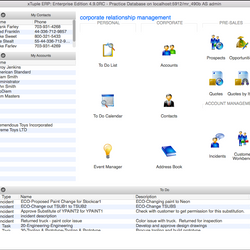 Screenshot: CRM