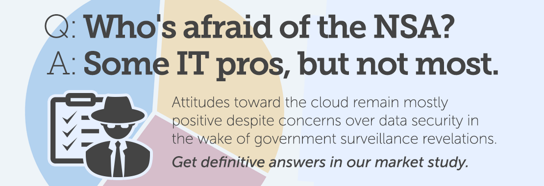 Attitudes toward the cloud remain mostly positive despite concerns over data security in the wake of government surveillance revelations.